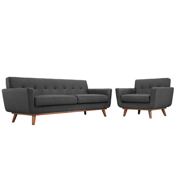 Modway Furniture Engage Gray Armchair and Sofa Set EEI-1344-DOR