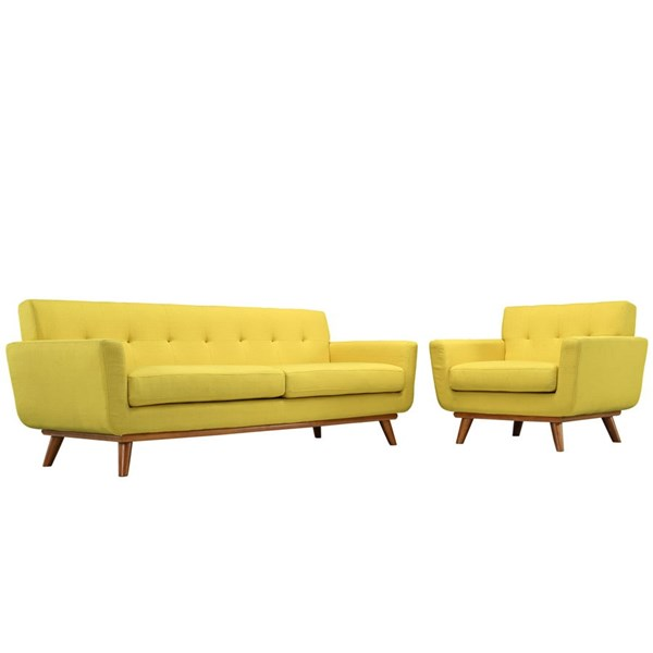 Modway Furniture Engage Sunny Armchair and Sofa Set EEI-1344-SUN