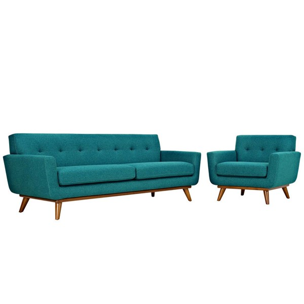 Modway Furniture Engage Teal Armchair and Sofa Set EEI-1344-TEA