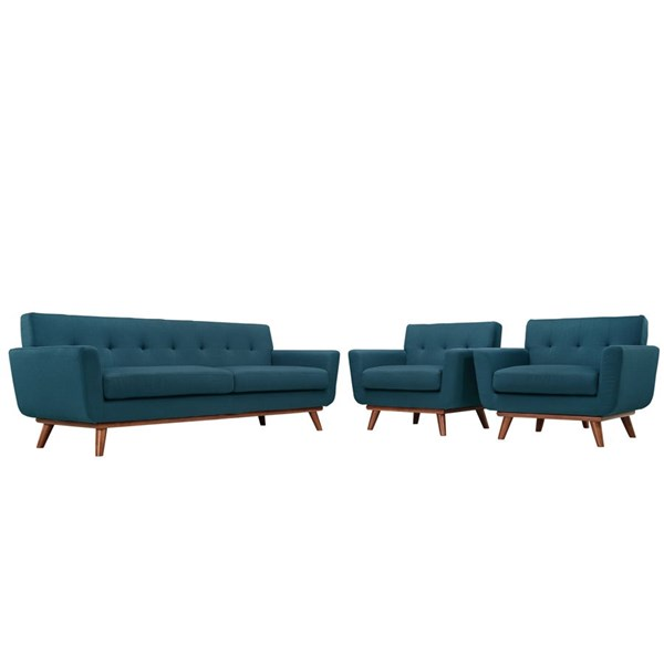 Modway Furniture Engage Azure 3pc Armchairs and Sofa Set EEI-1345-AZU