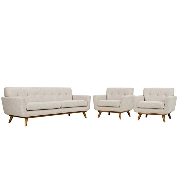 Modway Furniture Engage Beige 3pc Armchairs and Sofa Set EEI-1345-BEI