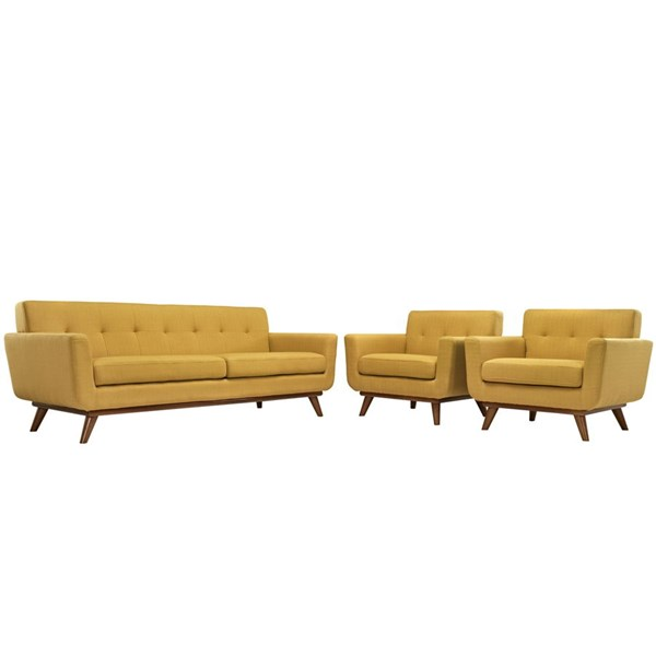 Modway Furniture Engage Citrus 3pc Armchairs and Sofa Set EEI-1345-CIT