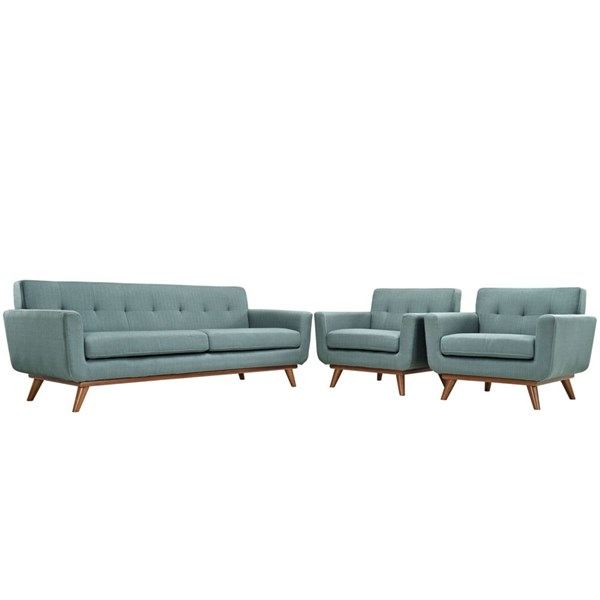Engage Laguna Fabric Wood Armchairs & Sofa Set EEI-1345-LAG