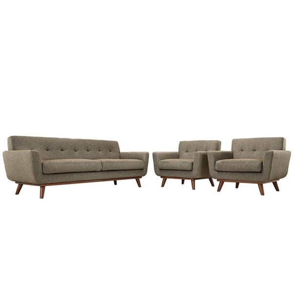 Modway Furniture Engage Oatmeal 3pc Armchairs and Sofa Set EEI-1345-OAT