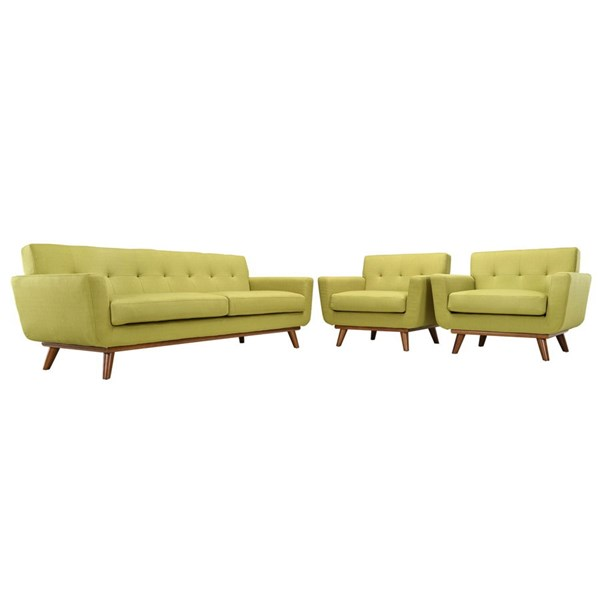 Modway Furniture Engage Wheatgrass 3pc Armchairs and Sofa Set EEI-1345-WHE