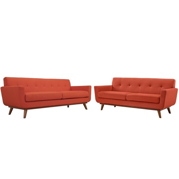 Modway Furniture Engage Atomic Red Loveseat and Sofa Set EEI-1348-ATO