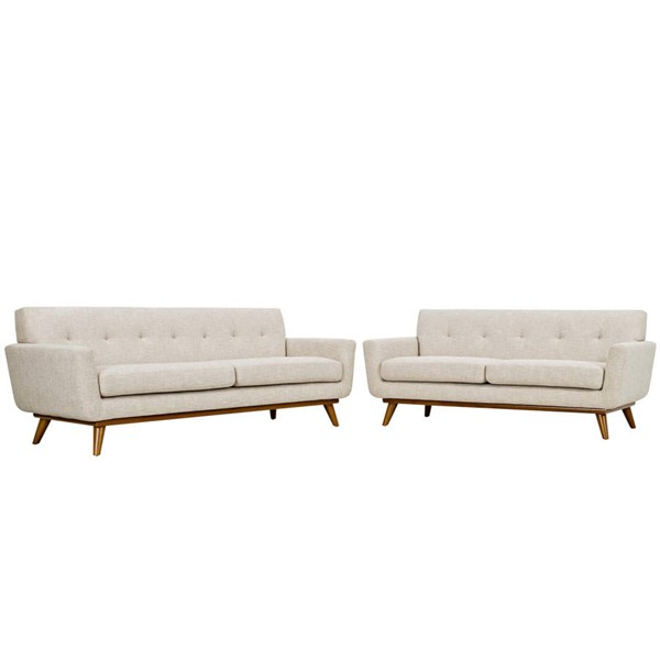 Modway Furniture Engage Beige Loveseat and Sofa Set EEI-1348-BEI