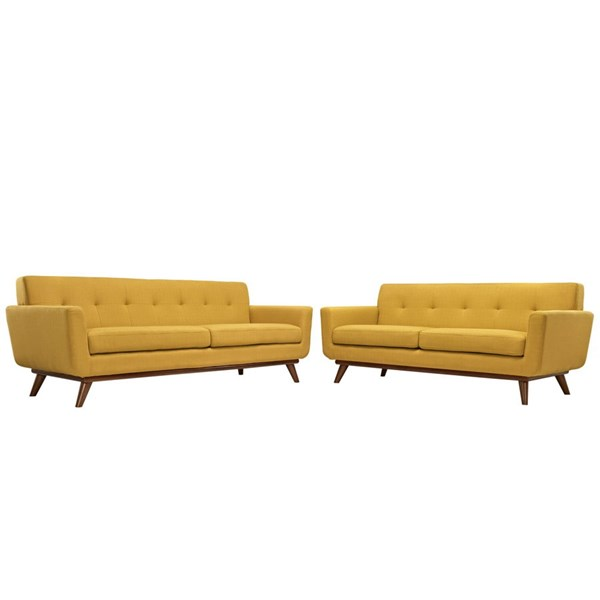 Modway Furniture Engage Citrus Loveseat and Sofa Set EEI-1348-CIT
