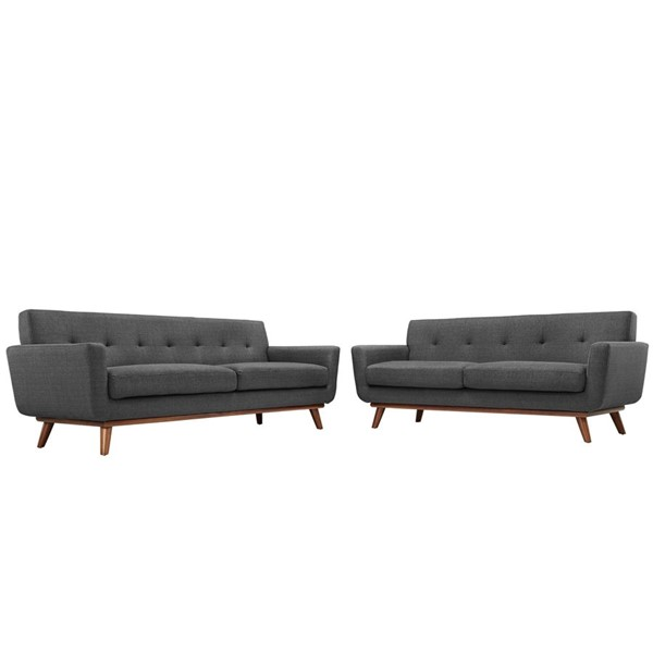 Modway Furniture Engage Gray Loveseat and Sofa Set EEI-1348-DOR