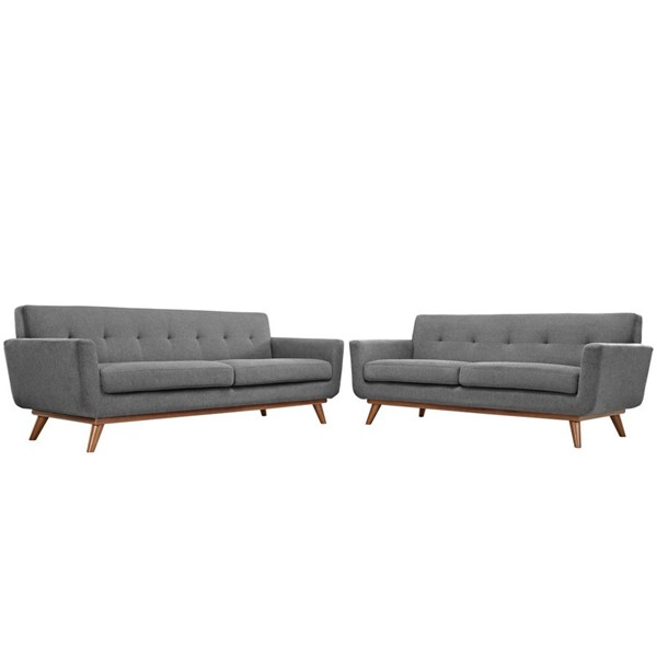 Modway Furniture Engage Expectation Gray Loveseat and Sofa Set EEI-1348-GRY
