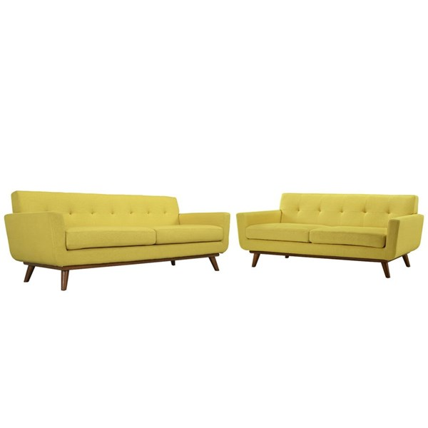 Modway Furniture Engage Sunny Loveseat and Sofa Set EEI-1348-SUN