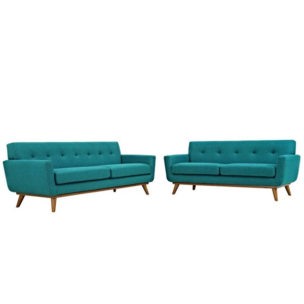Modway Furniture Engage Teal Loveseat and Sofa Set EEI-1348-TEA