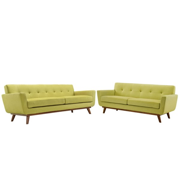 Modway Furniture Engage Wheatgrass Loveseat and Sofa Set EEI-1348-WHE