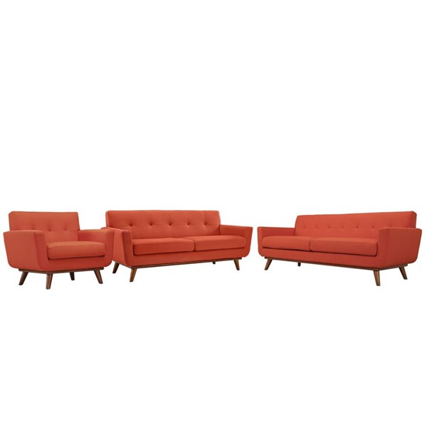 Modway Furniture Engage Atomic Red 3pc Living Room Set EEI-1349-ATO