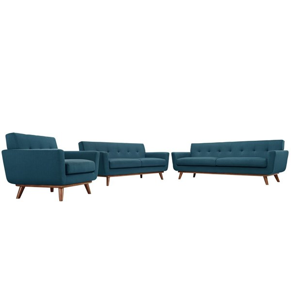Modway Furniture Engage Azure 3pc Living Room Set EEI-1349-AZU