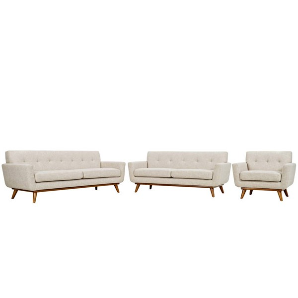 Modway Furniture Engage Beige 3pc Living Room Set EEI-1349-BEI