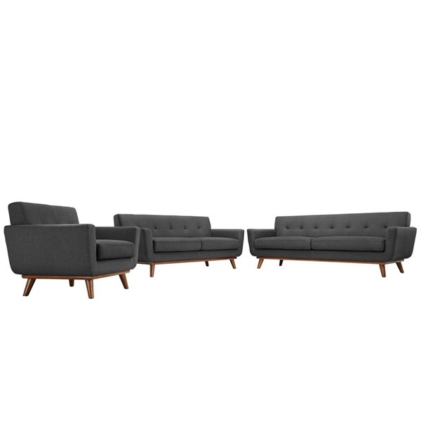Modway Furniture Engage Gray 3pc Living Room Set EEI-1349-DOR