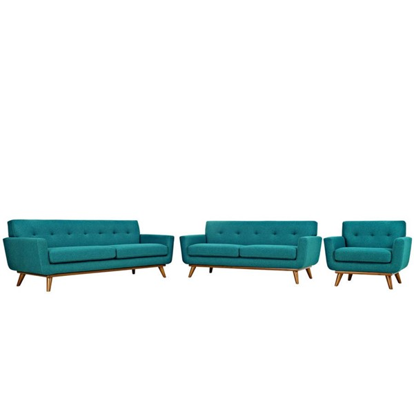 Modway Furniture Engage Teal 3pc Living Room Set EEI-1349-TEA