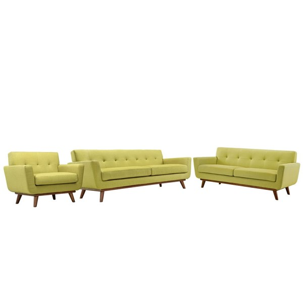 Modway Furniture Engage Wheatgrass 3pc Living Room Set EEI-1349-WHE