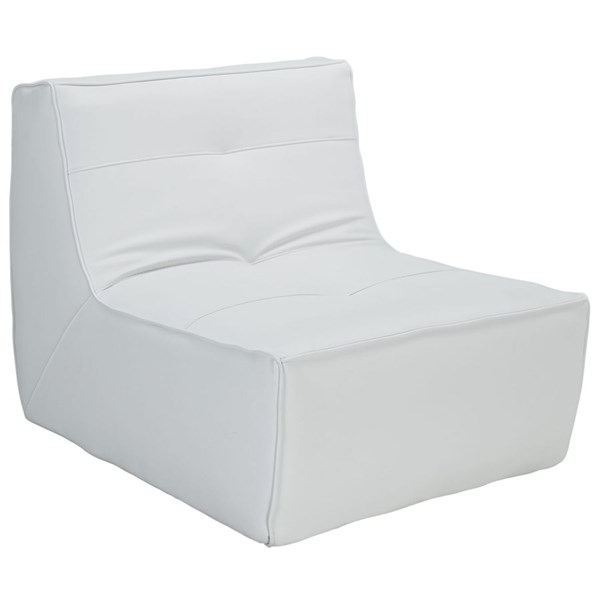 Align Modern White Bonded Leather PU Armchair EEI-1350-WHI