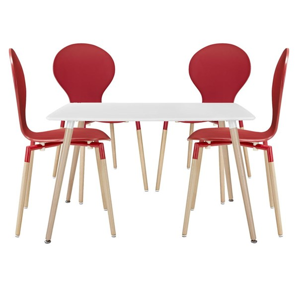 Modway Furniture Path Red 5pc Dining Sets EEI-1371-RED