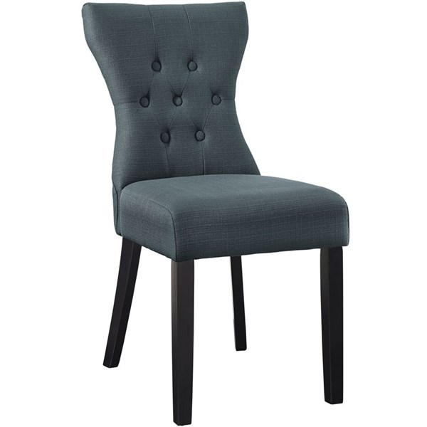 Silhouette Modern Gray Wood Fabric Dining Side Chair EEI-1380-GRY
