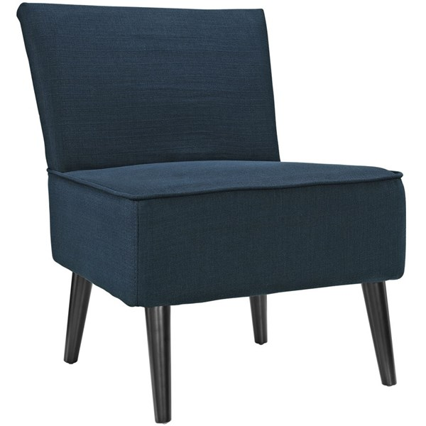 Reef Contemporary Azure Fabric Solid Wood Side Chair EEI-1405-AZU