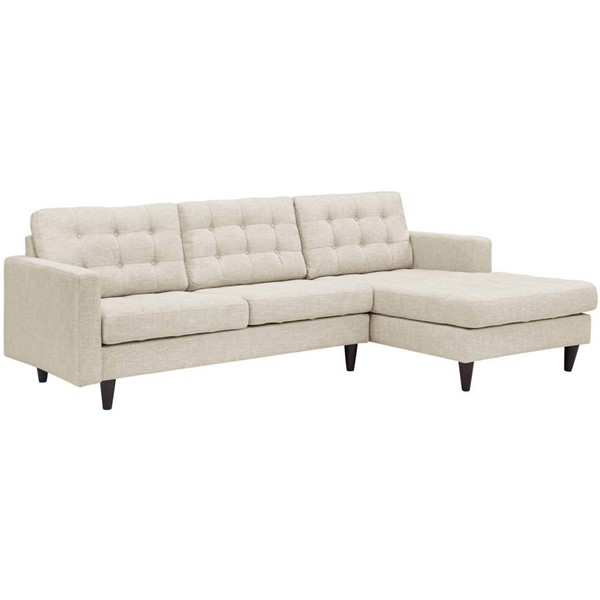 Modway Furniture Empress Beige Fabric Right Facing Sectional EEI-1416-BEI