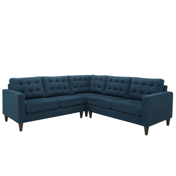 Modway Furniture Empress Azure Fabric 3pc Sectional EEI-1417-AZU