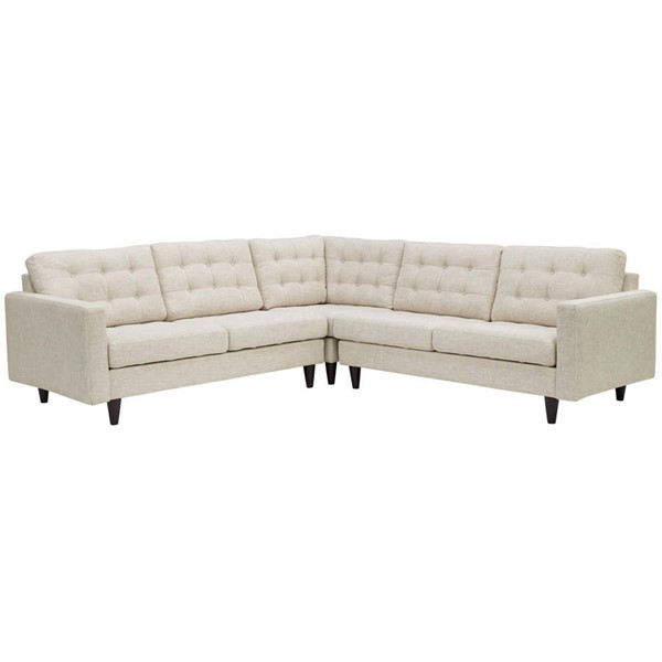 Modway Furniture Empress Beige Fabric 3pc Sectional EEI-1417-BEI