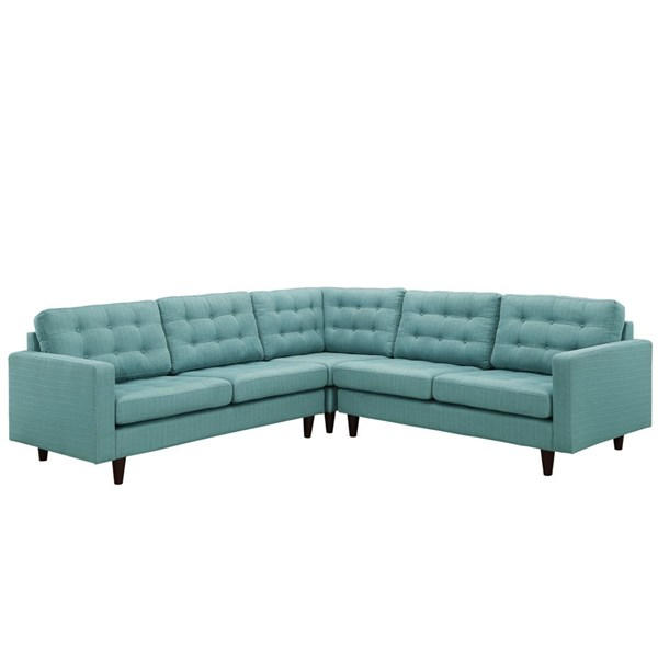 Modway Furniture Empress Laguna Fabric 3pc Sectional EEI-1417-LAG