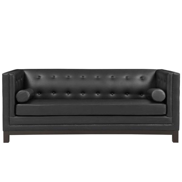 Imperial Modern Black Bonded Leather Solid Wood Sofa EEI-1421-BLK