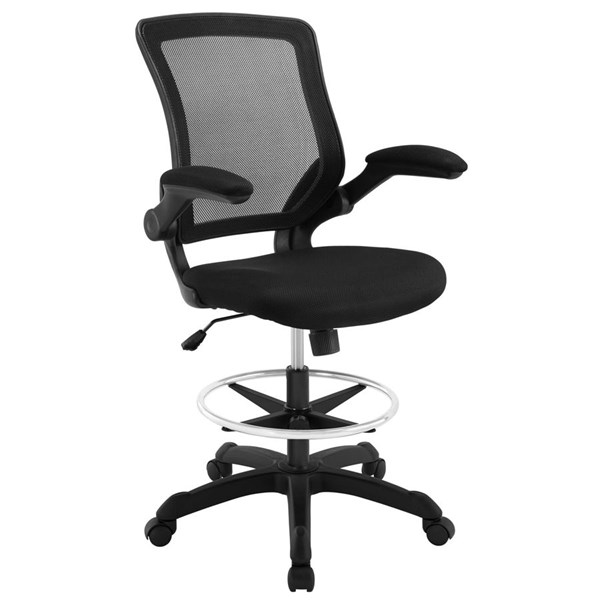 Modway Furniture Veer Black Drafting Stool EEI-1423-BLK