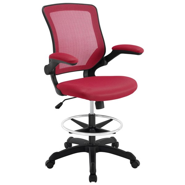 Modway Furniture Veer Red Drafting Stool EEI-1423-RED