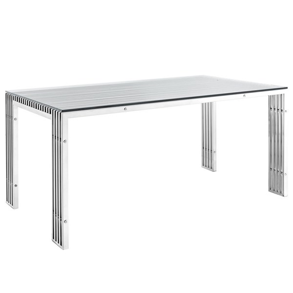 Modway Furniture Gridiron Leg Base Dining Table EEI-1434-SLV