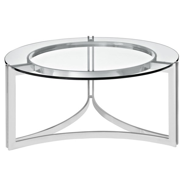 Modway Furniture Signet Stainless Steel Coffee Table EEI-1438-SLV