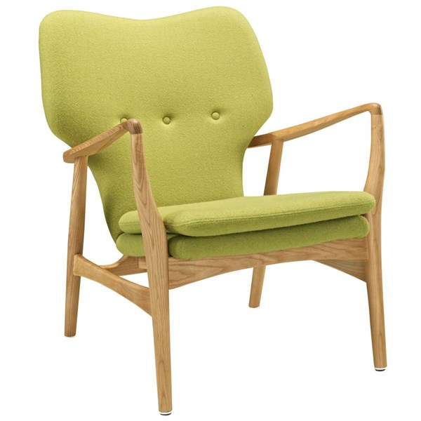 Heed Modern Birch Green Fabric Solid Wood Lounge Chairs EEI-1442-CH-VAR