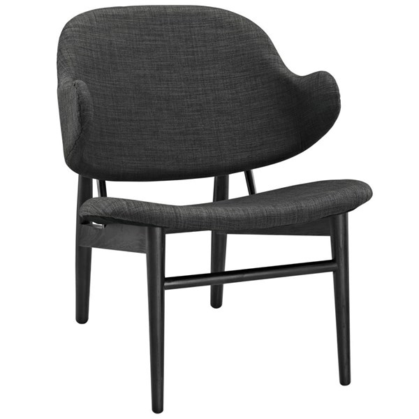 Suffuse Modern Black Gray Fabric Solid Wood Lounge Chairs EEI-1449-CH-VAR