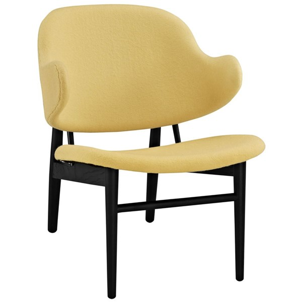 Suffuse Modern Black Yellow Fabric Solid Wood Lounge Chair EEI-1449-BLK-YLW