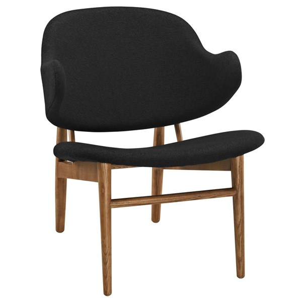 Suffuse Modern Maple Black Fabric Solid Wood Lounge Chair EEI-1449-MAP-BLK