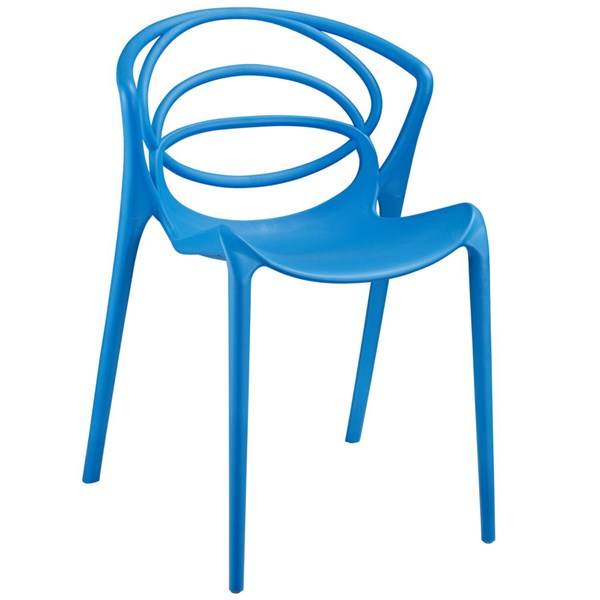 Locus Modern Blue PP Plastic Dining Side Chair EEI-1451-BLU