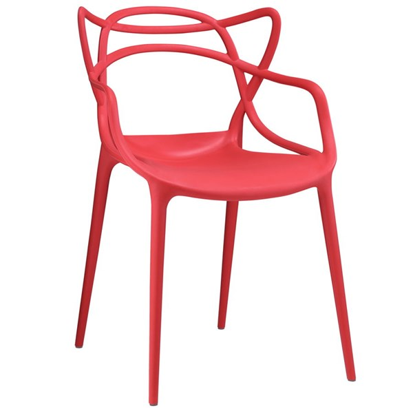 Entangled Modern Red PP Plastic Dining Armchair EEI-1458-RED