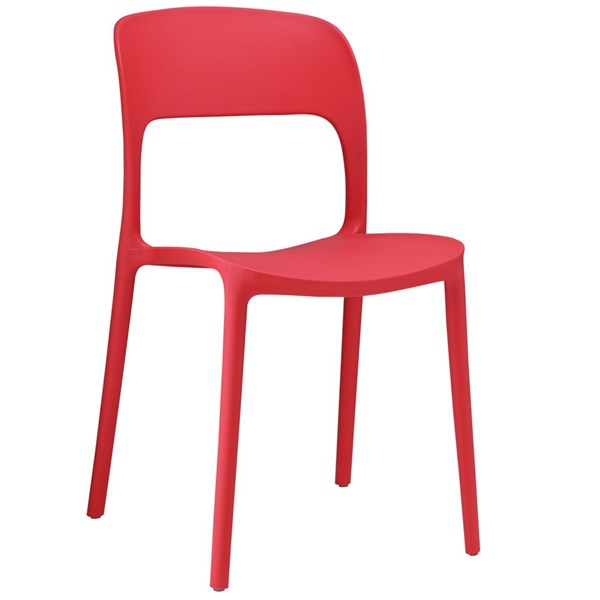 Hop Modern Red PP Solid Seat Dining Side Chairs EEI-1461-DR-CH-VAR