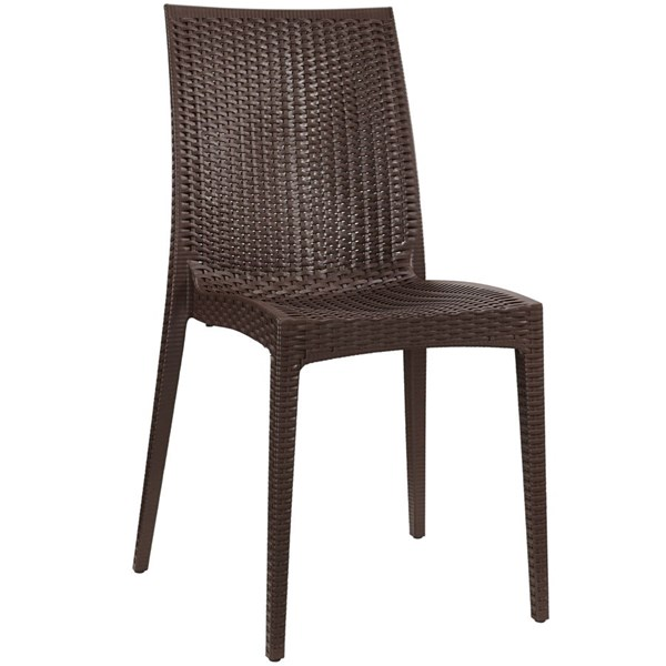 Intrepid Contemporary Coffee PP Dining Side Chairs EEI-1466-DR-CH-VAR