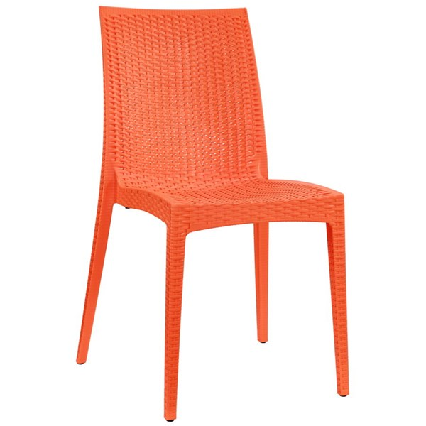 Intrepid Contemporary Orange PP Dining Side Chair EEI-1466-ORA