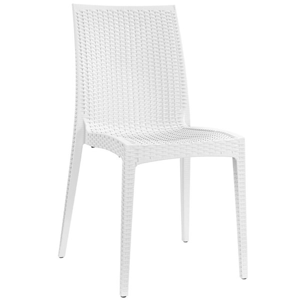 Intrepid Contemporary White PP Dining Side Chair EEI-1466-WHI