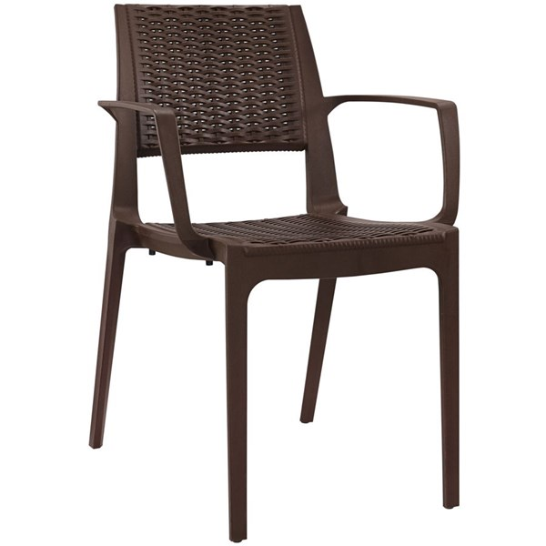 Astute Contemporary Coffee PP Dining Side Chair EEI-1467-COF