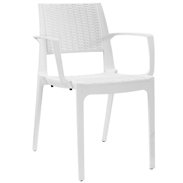 Astute Contemporary White PP Dining Side Chair EEI-1467-WHI