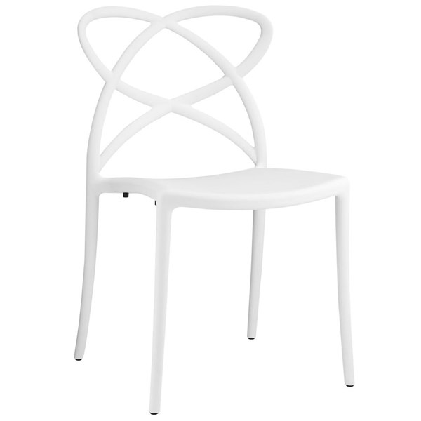 Enact Modern White PP Solid Seat Dining Side Chair EEI-1492-WHI