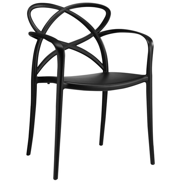 Enact Modern Black PP Solid Seat Dining Armchairs EEI-1493-DR-CH-VAR